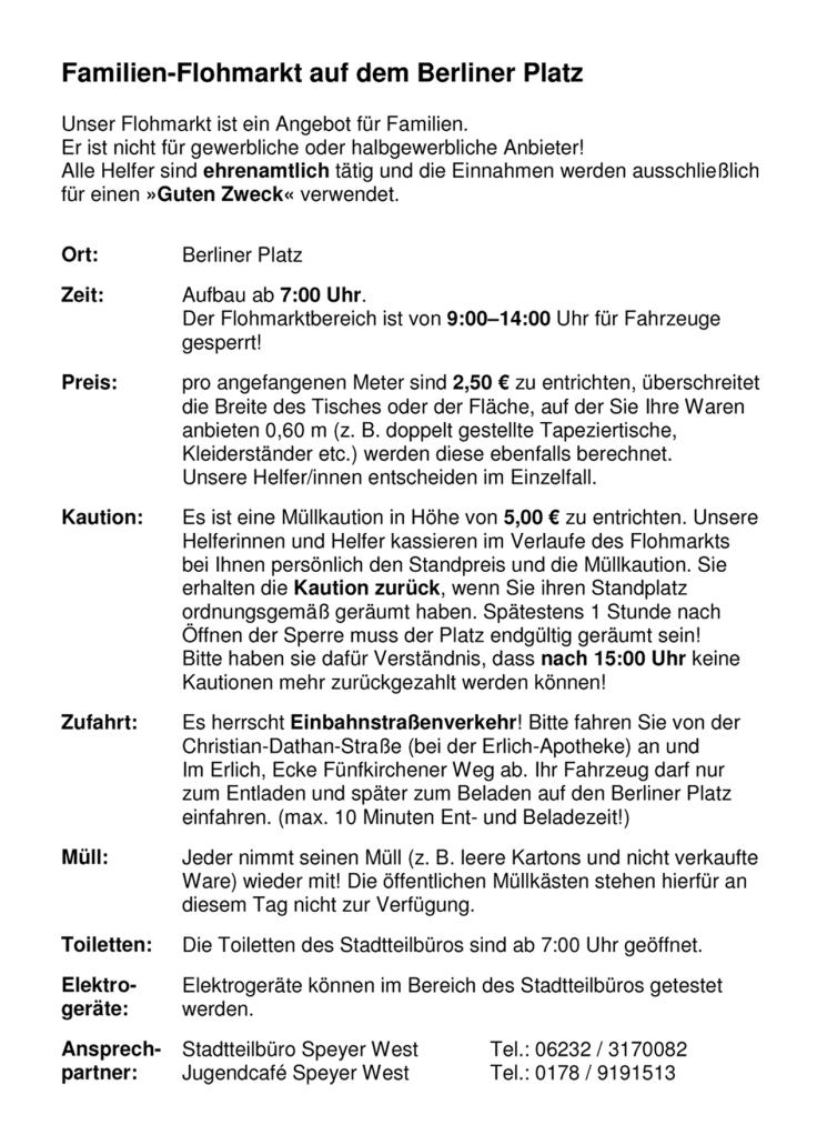 Familien-Flohmarkt Berliner Platz - Flyer-Rückseite neu